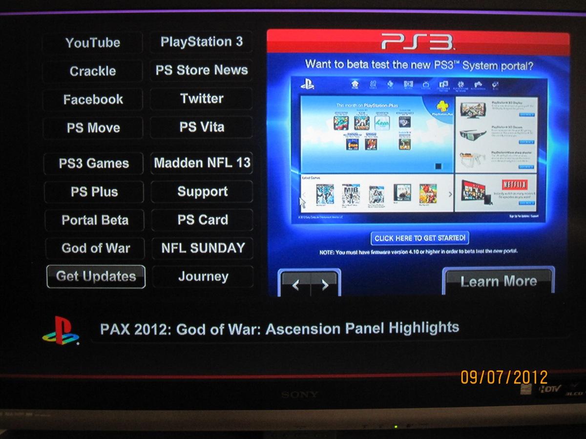 New PS3 Portal Beta