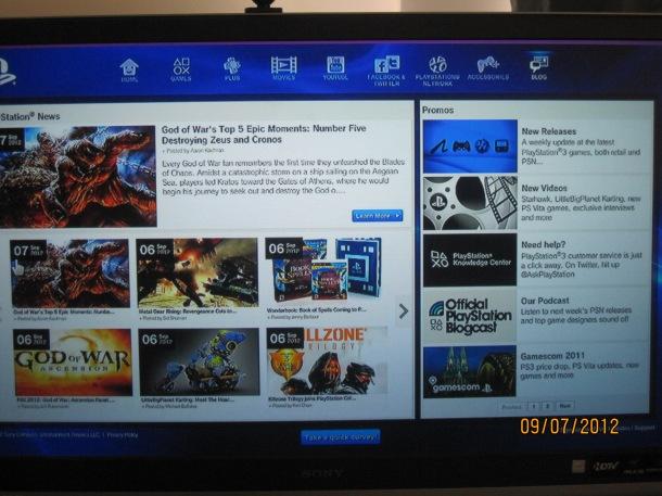 Blog On PS3 Portal
